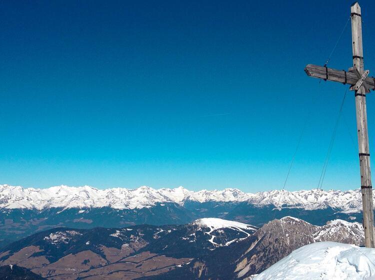 Gipfelglu Ck Auf Der Schneeschuhtour