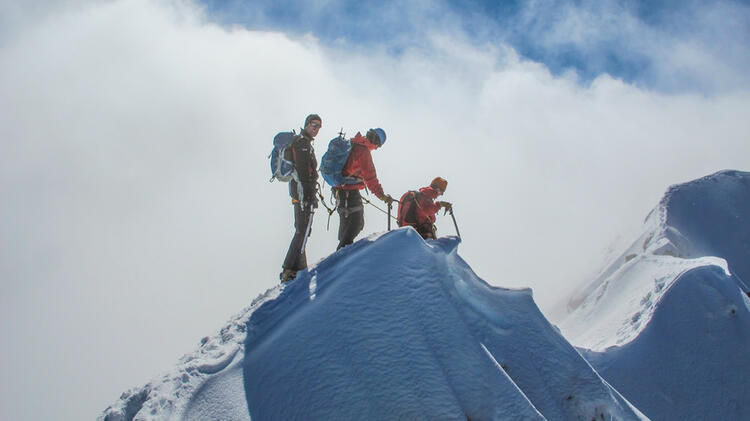 Gipfelgrat Am Biancograt
