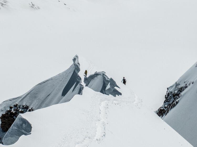Gipfelgrat Auf Der Hochtour Zum Moench