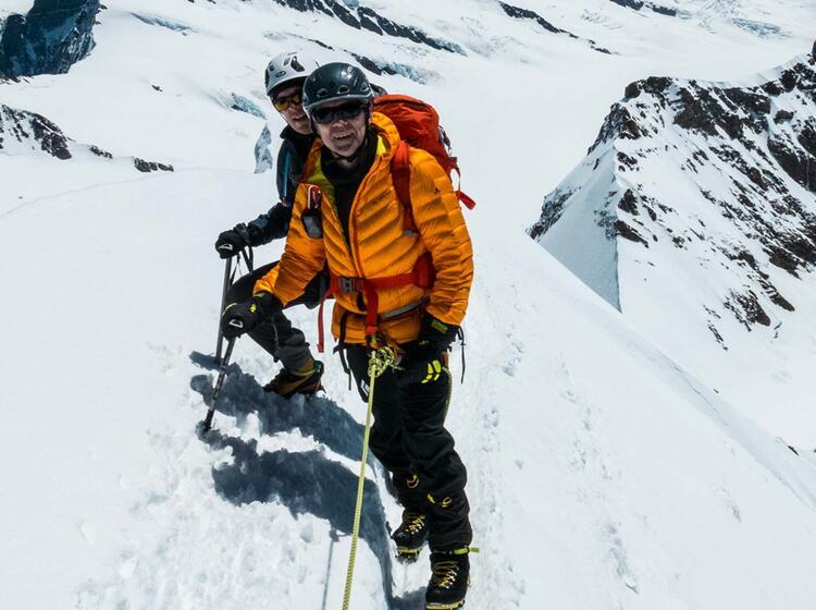 Gipfelgrat Hochtour Moench
