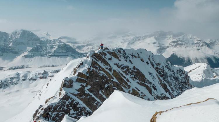 Gipfelpanorama Auf Der Skitouren Reise Kanada