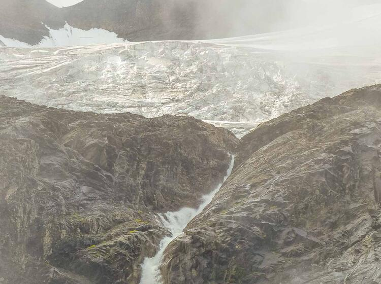 Gletscher Auf Der Tour Du Mont Blanc