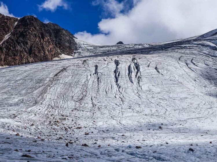 Gletscher Auf Der Venter Runde Oetztal Durchquerung Mit Bergfuehrer