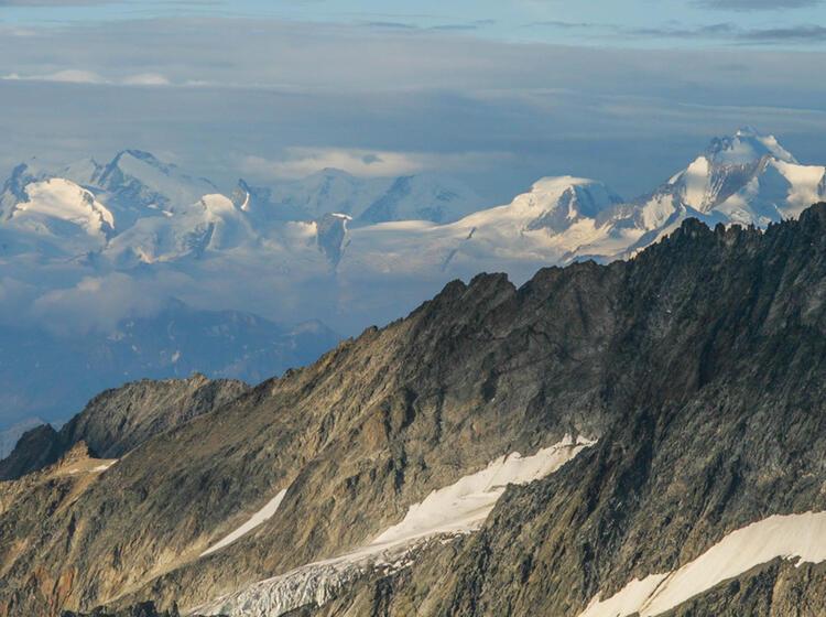 Gletscher Tour Aletsch Gletscher Mit Blick Ins Wallis