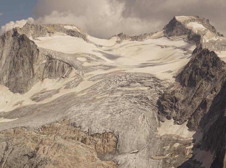 Gletscherblick Bei Der Wanderwoche Bergell