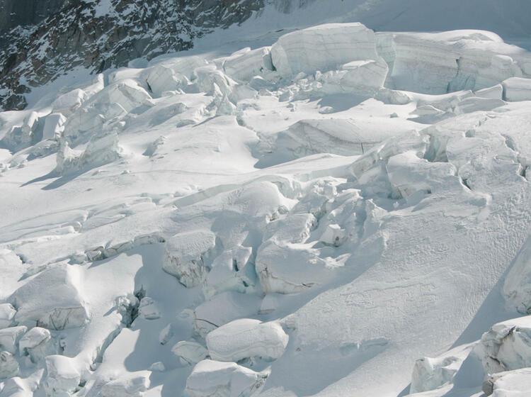 Gletscherbruch Auf Der Haute Route Skidurchquerung