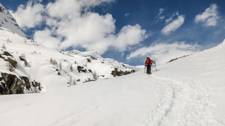 Gletschertour Mit Schneeschuhen