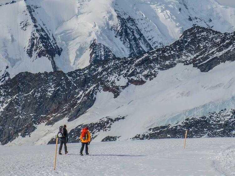 Gletscherwandern In Der Schweiz