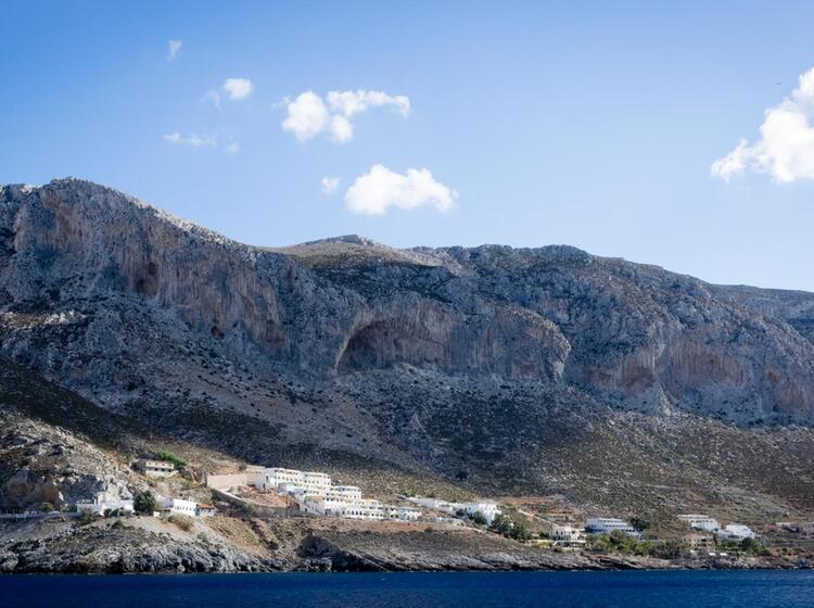 Grande Grotta Auf Kalymnos Klettern