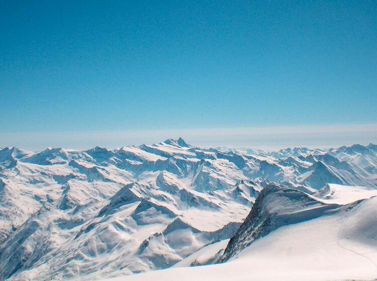 Grandiose Aussicht Auf Der Skitour Hochtirol