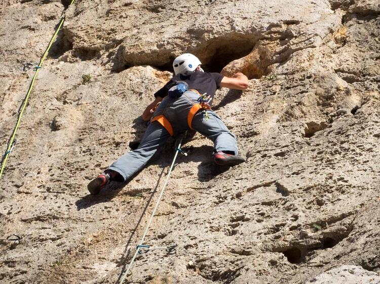 Griffiger Fels Im Sektor Beach Auf Kalymnos
