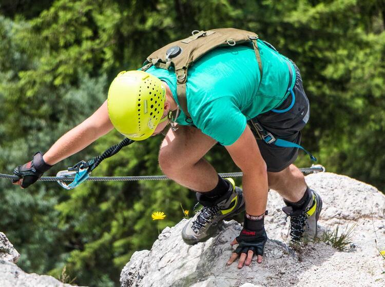 Gruenstein Klettersteig In Berchtesgaden Am Klettersteigkurs