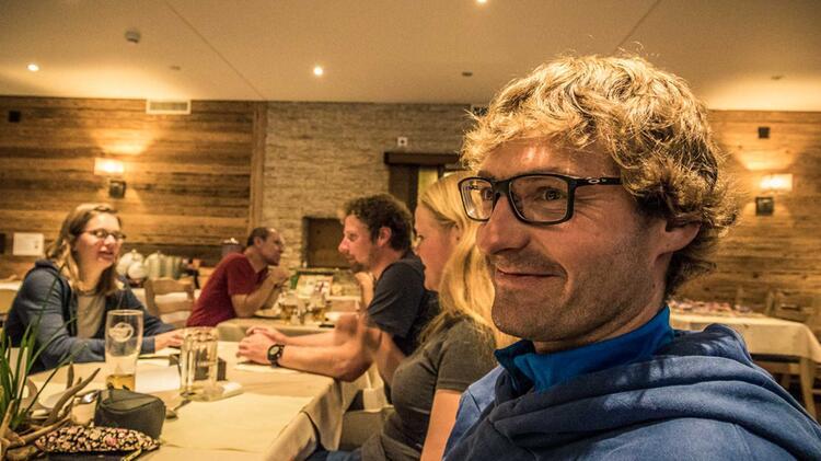 Hans Eichholzer Auf Der Spaghettirunde Als Bergfuehrer Im Wallis