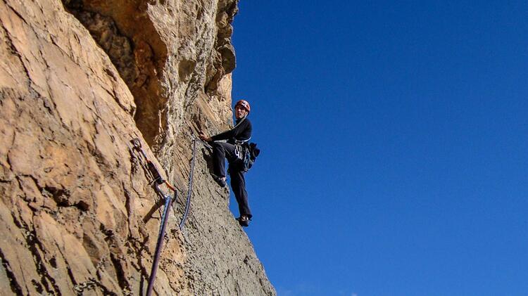 Hevesi Peter Ist Bergfuehrer Am Kletterkurs