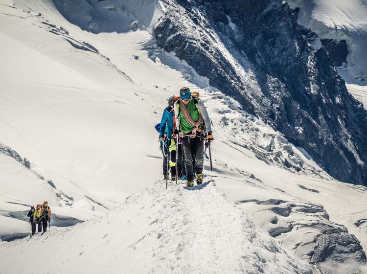 Hochtourenfuehrung Am Gletscher