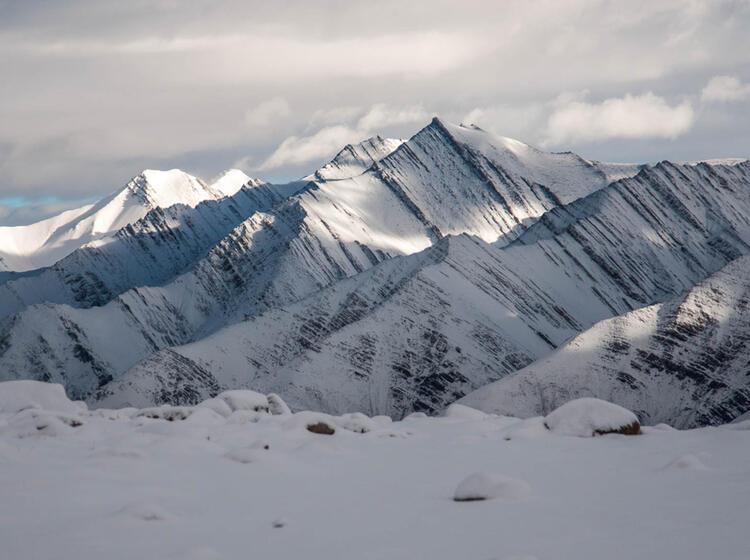 Hohe Berge Auf Der Trekking Reise Ladakh