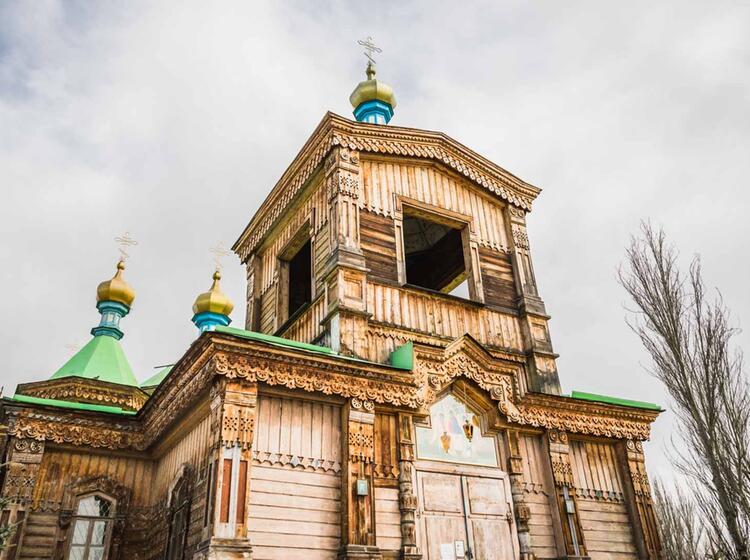 Holzkirche In Karakol Kirgisien