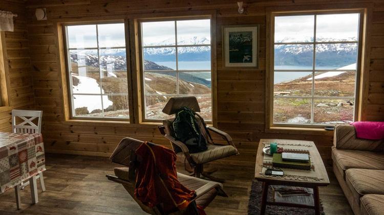 Hytta Auf Der Wanderreise Nach Norwegen