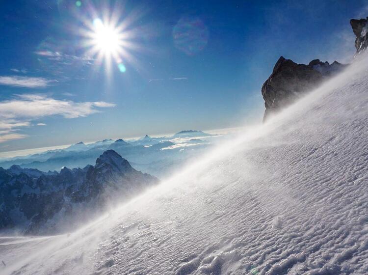 Im Aufstieg Zum Mont Blanc Mit Bergfuehrer