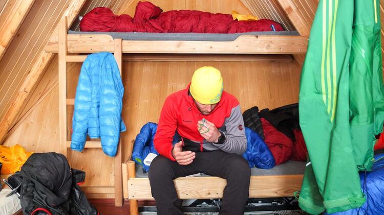 Im Avacha Camp Bei Der Skitouren Reise Kamchatka