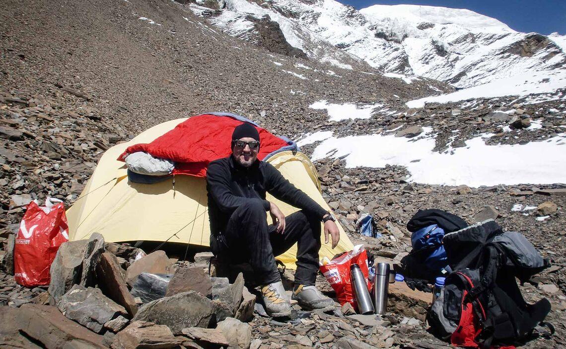 Im Lager I Auf 5400 M Himlung Himal Expedition