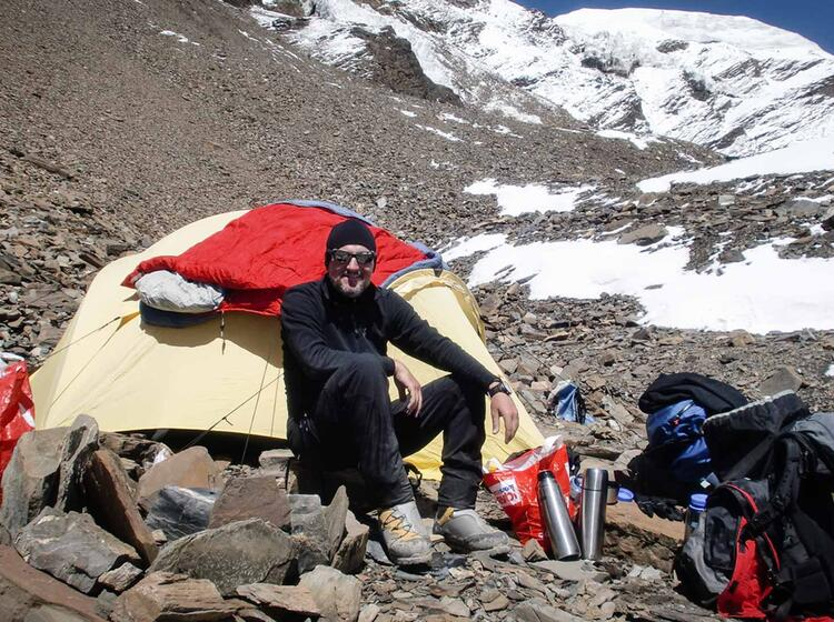 Im Lager I Auf 5400 M Himlung Himal Expedition