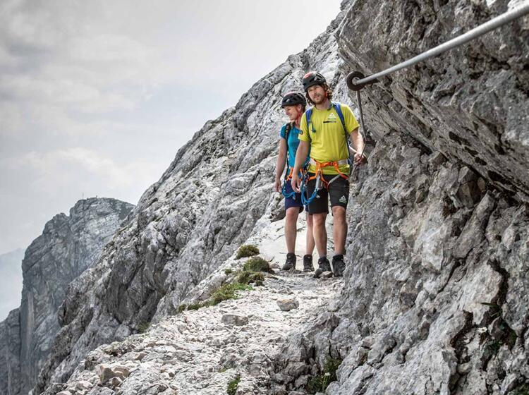 Im Nordwandsteig Der Alpspitze