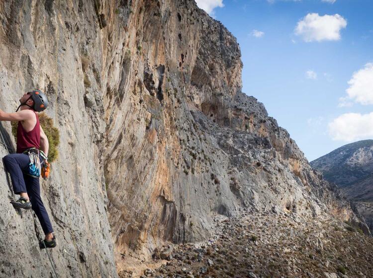 Im Vorstieg 6a Kalymnos Klettern