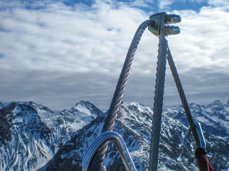Im Winter Am Iseler Klettersteig Im Allgaeu