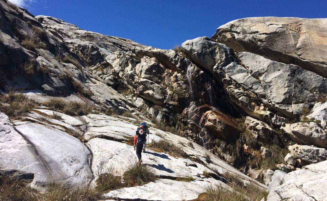 Im Zustieg Auf Der Huascaran Expedition