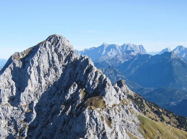 Kellenspitze Gesehen Auf Der Gefuehrten Tour Von Huette Zu Huette Im Tannheimer Tal