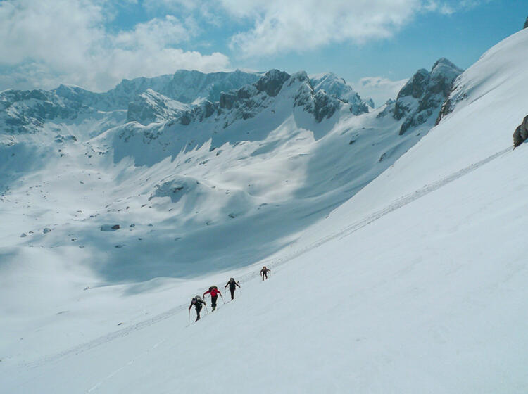 Kleine Skitouren Gruppe Montenegro