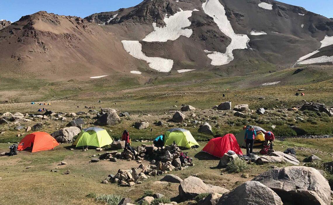 Kleines Basecamp Trekking Iran