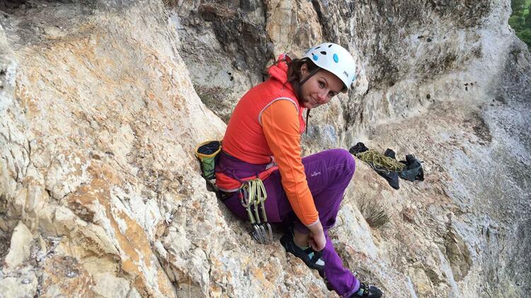 Kletter Trainerin Beatrice Beggel Beim Kletterkurs Im Blautal