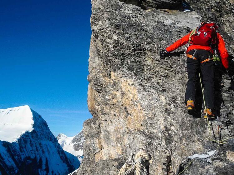 Kletterei Am Eiger Mittellegigrat