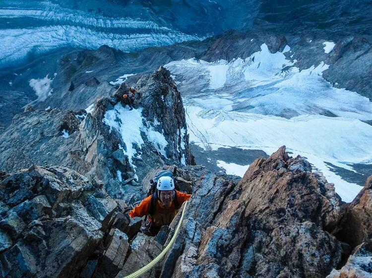 Kletterei Am Schreckhorn