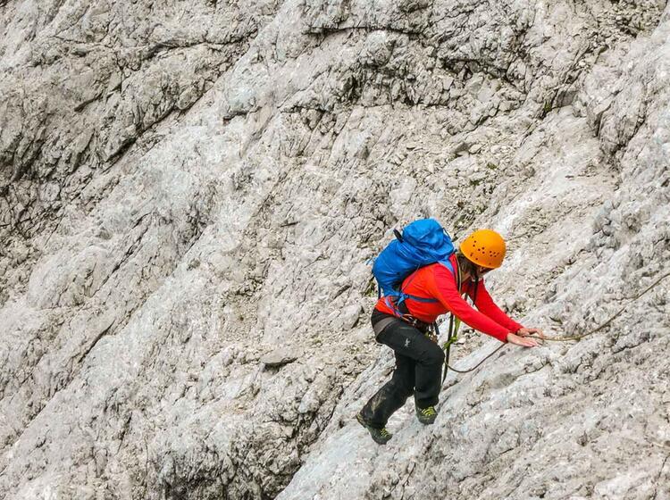 Kletterei In Der Zugspitze Nordwand