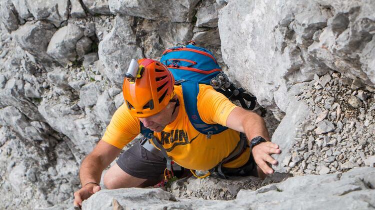 Kletterer In Der Hochwanner Nordwand