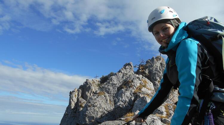 Kletterlehrer Beggel Beatrice Am Kletterkurs