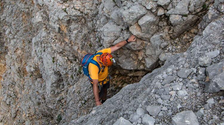 Klettern Am Hochwanner Mit Bergfuehrer Der Bergsteigerschule Zugspitze