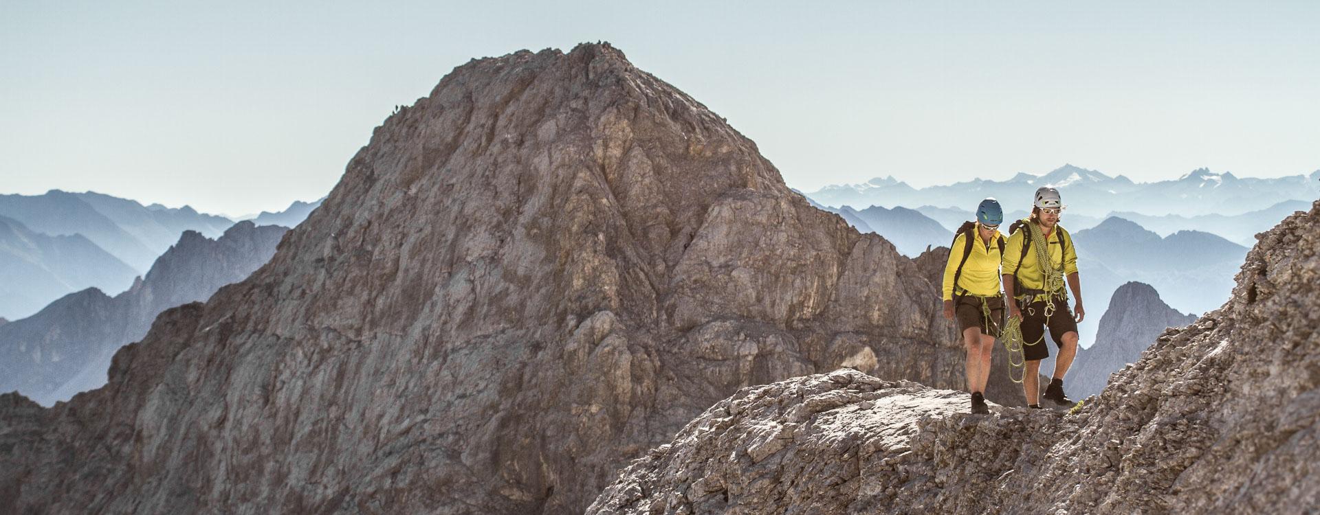 Klettern am Jubelgrat an der Zugspitze