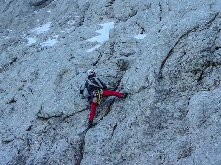 Klettern Am Waxenstein