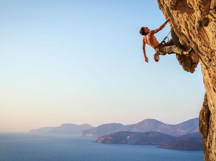 Klettern Auf Kalymnos Im Vorstieg
