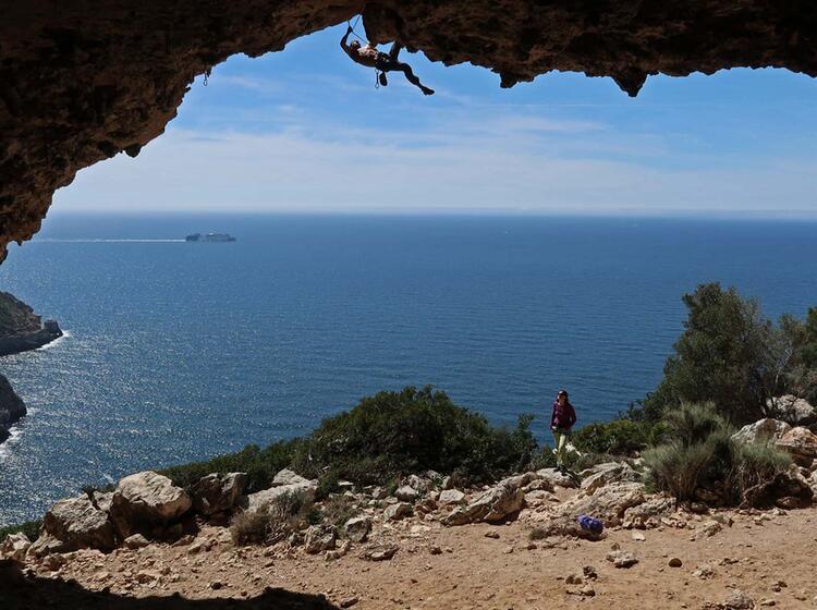 Klettern Auf Mallorca Am El Bunker 01