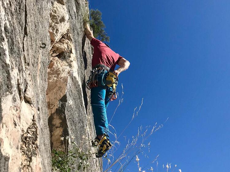 Klettern Auf Sardinien Vorstieg