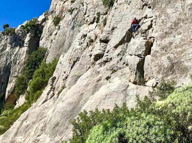 Klettern Im Besten Fels Auf Sardinien