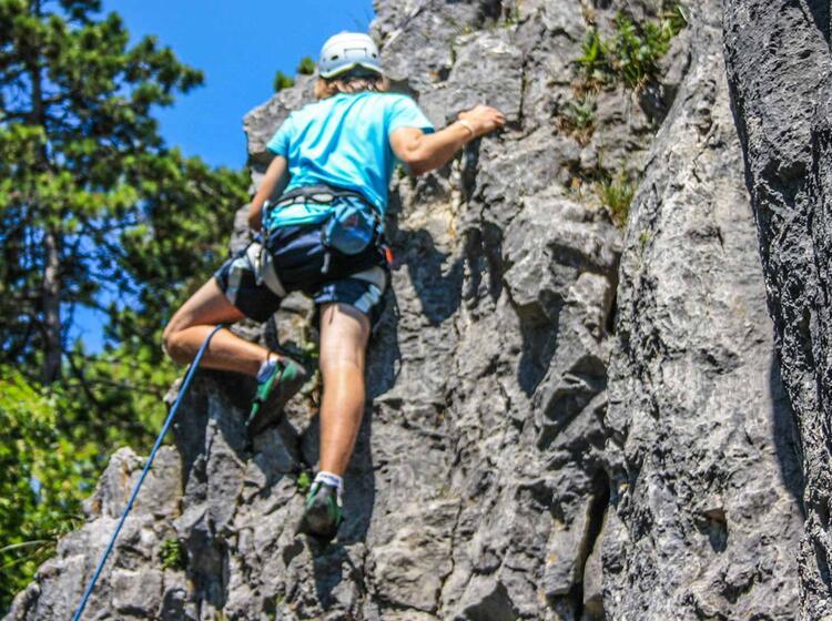 Klettern Im Kletterkurs