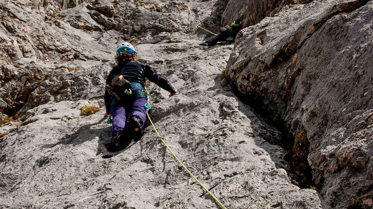 Klettern Im Vorstieg Am Kletterkurs Gardasee