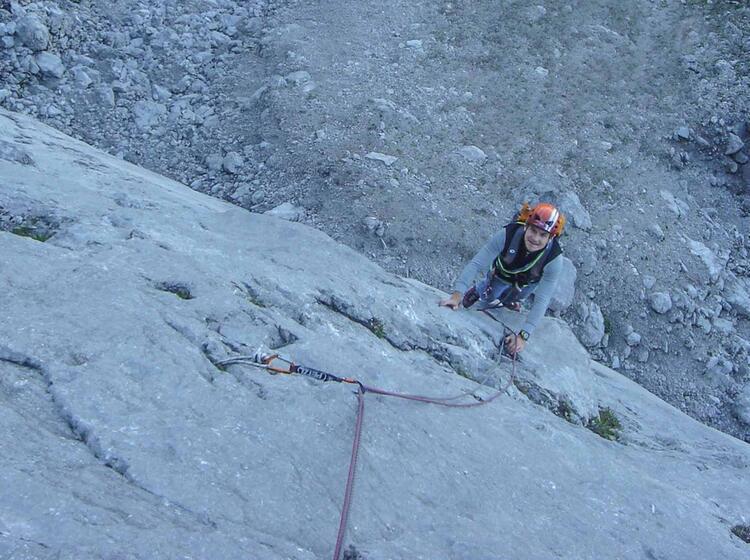 Klettern In Garmisch Am Waxenstein