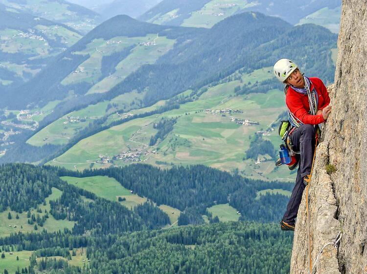 Klettern Mit Bergfuehrer In Den Dolomiten